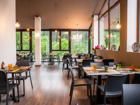 Panorama dalla sala da pranzo, Pizza Grill & Maccaroni ad Arta Terme