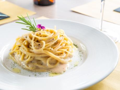 Spaghetti cacioepepe-Ristorante Hotel alla Fonte-Arta Terme-Carnia